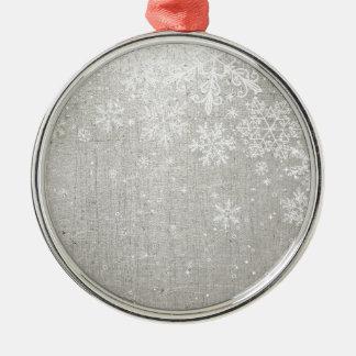 素朴なメリークリスマス メタルオーナメント