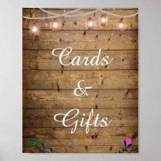 素朴なランタンはカード及びギフトポスターをつけます ポスター