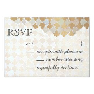 素朴なロマンスの結婚式 ののどの金ゴールドホイルのモザイク カード