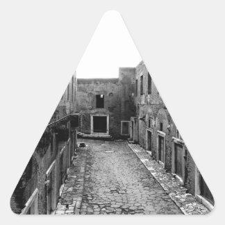 素朴なローマ 三角形シール