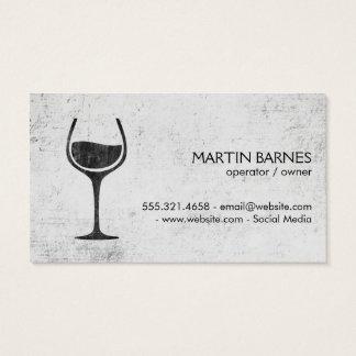 素朴なワイングラス| 名刺