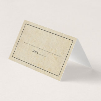 素朴なヴィンテージのバーラップのエレガントな結婚式 プレイスカード