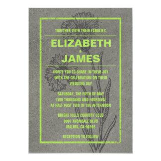 素朴なヴィンテージのライムの結婚式招待状 カード