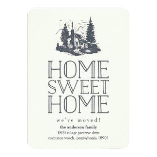 素朴なヴィンテージの小屋の移動発表 カード