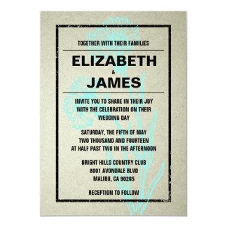 素朴なヴィンテージの水の結婚式招待状 カード