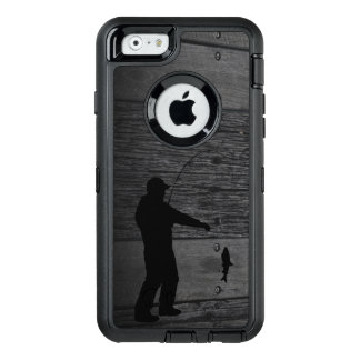 素朴な人の魚釣りの電話箱 オッターボックスディフェンダーiPhoneケース