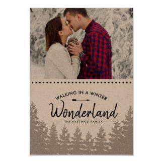 素朴な冬の不思議の国|山の写真カード カード