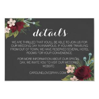 素朴な冬の結婚式の明細カード カード