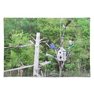 素朴な南ボトルの木によって結ばれるマツ巣箱 ランチョンマット
