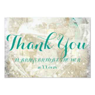 素朴な名前入りブライダルシャワー感謝していしています カード
