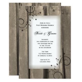 素朴な国の納屋の木製のポストの結婚式のブランチ 12.7 X 17.8 インビテーションカード
