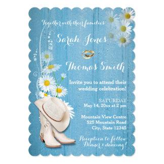 素朴な国の結婚式招待状 カード