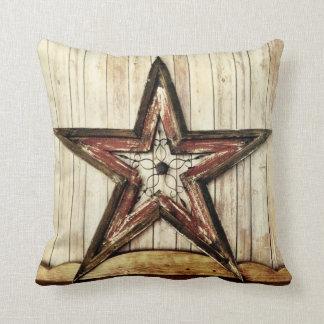 素朴な国の西部の星の納屋木装飾用クッション クッション