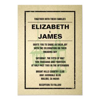 素朴な夜ライト結婚式招待状 カード