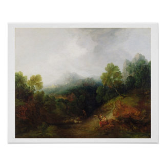 素朴な姿、c.1773-7 (oが付いている山の谷 ポスター