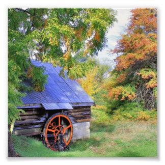素朴な小屋の景色 フォトプリント
