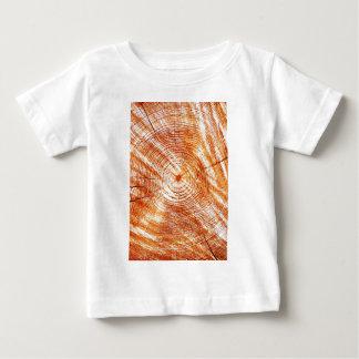 素朴な年輪の木製のデザインのギフト ベビーTシャツ