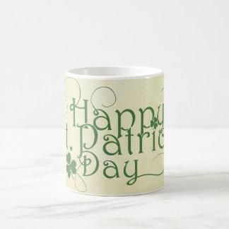 素朴な幸せなセントパトリックの日 コーヒーマグカップ