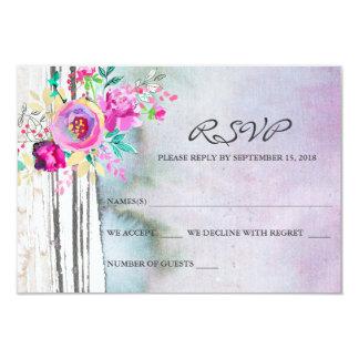 素朴な庭の水彩画RSVPカード カード