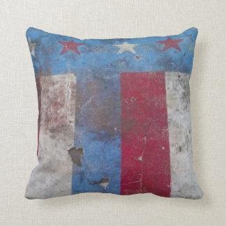 素朴な旗の枕 クッション