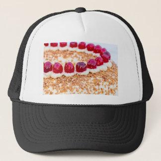 素朴な木のさくらんぼが付いているブランクフルトの王冠のケーキ キャップ