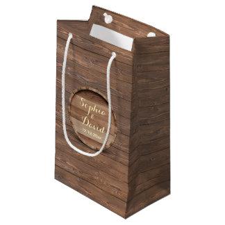 素朴な木のバレルの結婚式のカスタムな好意のバッグ スモールペーパーバッグ