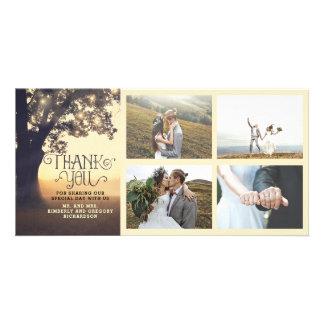 素朴な木の夢の夏の結婚式は感謝していしています カード
