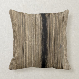 素朴な木の板の枕 クッション