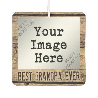 素朴な木組み立てられた写真の最も最高のな祖父 カーエアーフレッシュナー