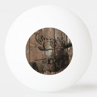 素朴な木製のアメリカヘラジカのピンポン球 卓球ボール