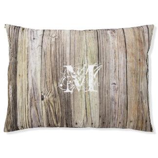 素朴な木製のモノグラムのな犬のベッド ラージドッグベッド