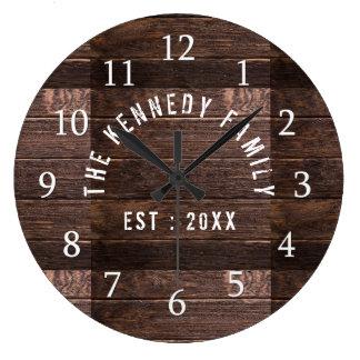 素朴な木製の姓の農家 ラージ壁時計