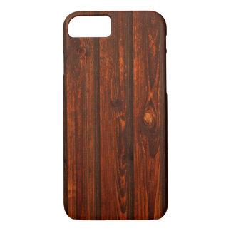 素朴な木製の穀物の箱 iPhone 8/7ケース