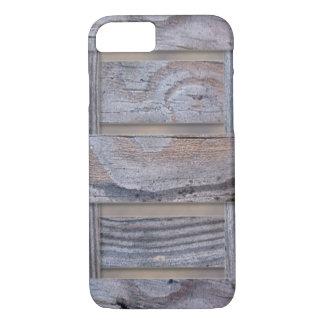 素朴な木製の質パターン iPhone 8/7ケース