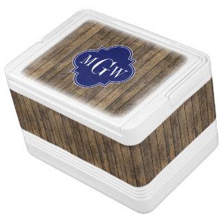 素朴な木L板#1海軍クローバー3 M'gram クールボックス