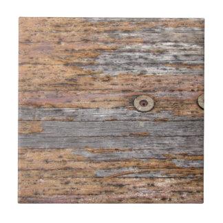 素朴な材木およびネイル タイル