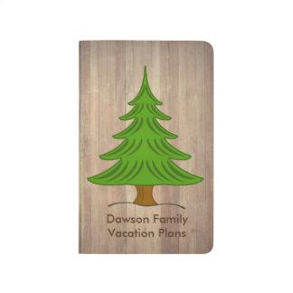 素朴な松の木個人的なジャーナル ポケットジャーナル