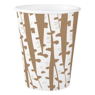 素朴な森林樺の木および技術タン 紙コップ