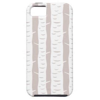 素朴な樺の木パターン iPhone SE/5/5s ケース