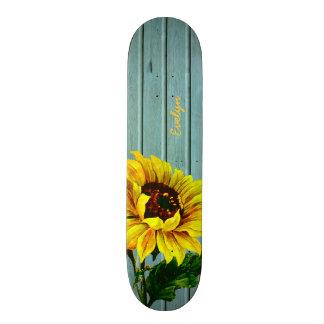 素朴な水はヒマワリのカスタムのスケートボードに乗ります 21.6CM スケートボードデッキ