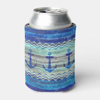 素朴な濃紺のいかり 缶クーラー