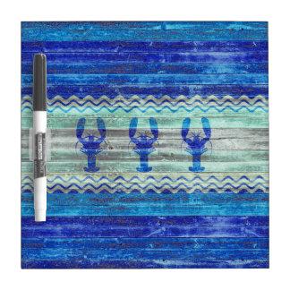 素朴な濃紺の沿岸ロブスター ホワイトボード