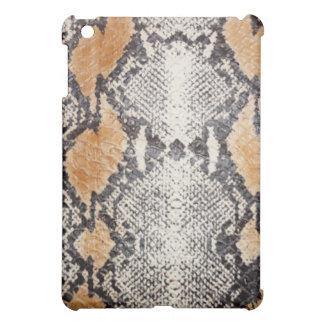 素朴な灰色の大蛇のスネークスキンパターン iPad MINIケース