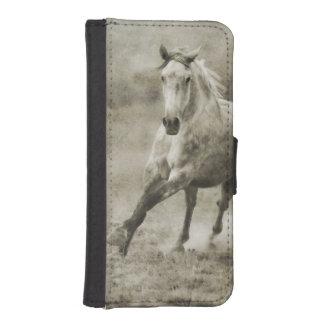 素朴な疾走するAndalusian馬 iPhoneSE/5/5sウォレットケース