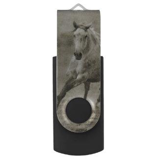 素朴な疾走するAndalusian馬 USBフラッシュドライブ