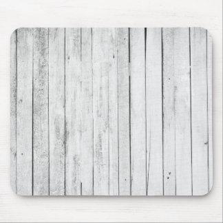素朴な白黒木製のパネルの農場 マウスパッド