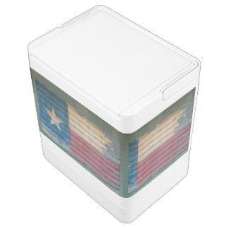 素朴な皮の単独星のテキサス州の旗 クーラーボックス
