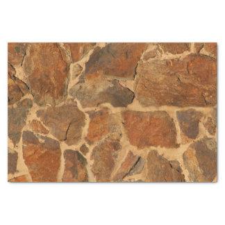 素朴な石塀の構造の地質学の暖かい白熱 薄葉紙