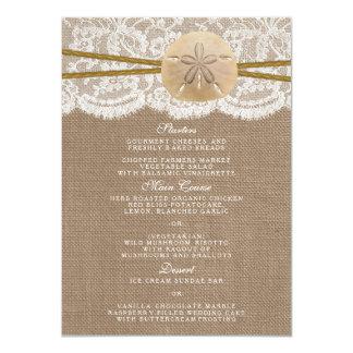 素朴な砂ドルの結婚式のコレクションメニュー 11.4 X 15.9 インビテーションカード