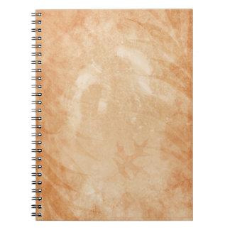 素朴な砂岩グランジなカシの葉 ノートブック